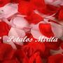 500 Petalos De Rosas En Tela