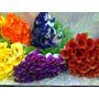 4 Ramos De Flores Artificiales Pimpollo Por 20 Unidades