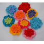 Flores Dobles Al Crochet (pack De 5 Unidades)
