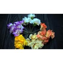 Ramos Flores Artificiales (paqx10 Ramts De 6 Fls) Rosas