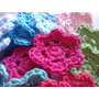 Flores 6 Petalos Crochet X 10 Unidades