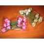 Rosas De Tela De Raso De Primera Calidad Pimpollos