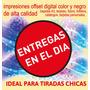 500 Volante-folleto 10x15 Blanco/negro Entregas En El Dia