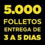 5.000 Volantes / Folletos Full Color Frente Y Dorso 150 G