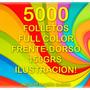 5000 Folletos 10x15cm Ilustracion Frente/dorso Grafica