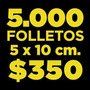 Folletos/volantes Full Color Ambos Lados 150g. De 3 A 5 Días