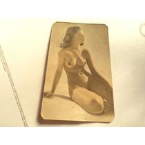 Antigua Publicidad Almanaque Desnudo Erotico Bar Grill