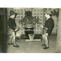 Ij17 Foto Infantil Juguete Antiguo Cowboy Revolver Disfraz
