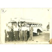 Colectivo Antiguo C/ 1945 Grupo Excursion Bondi Foto Antigua