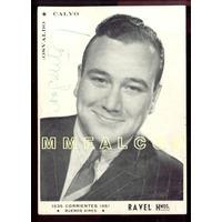 Osvaldo Calvo Actor Argentino Foto Publicitaria Autografiada