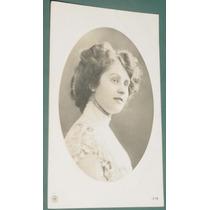 Fotografia Postal Damas Mujeres Peinados Señoritas 1919