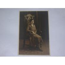 Antigua Fotografia Foto Rosano 1931 Mujer Sillon Chivilcoy