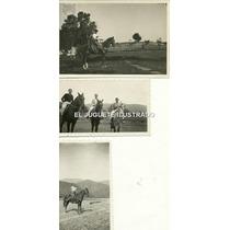Fd07 Lote X3 Fotos Caballos Antigua Campo Gaucho 1937 Salta