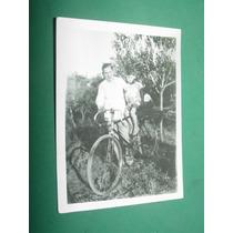 Fotografia Antigua 8x6 Cm Niños Bicicleta De Carrera S/dat