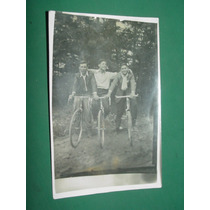 Fotografia Antigua Jovencitos Con Bicicletas De Carrera S/d