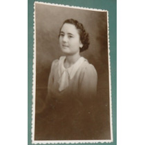 Fotografia Postal Damas Mujeres Peinados Costumbres Señorita