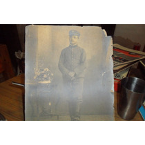 Muy Antigua Fotografia De Militar Argentino Mide 30cmx20cm