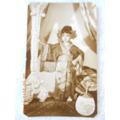 Foto Antigua Tamaño Postal Niña Con Disfraz De Geiya