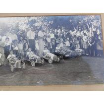 Antiguas Fotografias, Foto Antigua Carrera De Karting, Auto