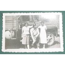 Fotografia Antigua Original Automoviles Camiones Familia 2