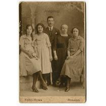 Antiguo Retrato Familiar Foto Roma Rosario Santa Fe