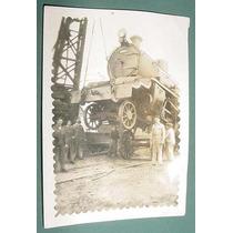 Foto Ferrocarriles Guinche Antigua Locomotora Vapor 9 X 6 Cm