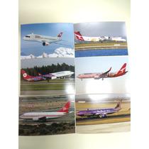 Lote De 6 Fotos De Aviones