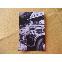 2116- Foto Antigua Colectivo 102, Niño Med. 10cm X 15cm