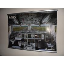 Posters Originales De Fabrica Airbus A350 / A380 Con Marco