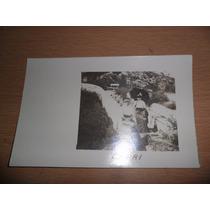 Antiguo Foto Fotografia Mujer Mujeres En Capri Vestido Epoca