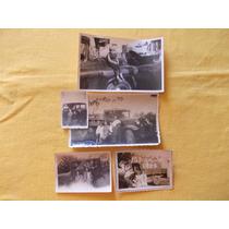231-lote De 5 Fotos De Autos Y Camiones