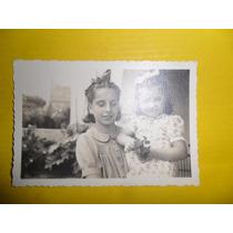 Antigua Fotografia Foto Niña Niñas Vestido Peinado Cabello