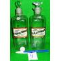 2 Frascos Farmacia, Etiqueta Vidrio, Usa, Transparentes