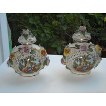 855- Antiguo Juego De Tocador De Porcelana