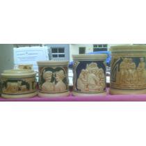 Antiguos Frascos De Ceramica Numerados