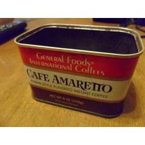 Antigua Lata De Cafe Amaretto De Chapa