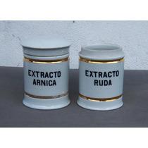 Historical*- 2 Frascos Farmacia Porcelana Alemania -envío