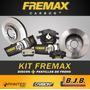 Kit 2 Discos + Pastillas Freno Fremax Renault Sandero 1.6 8v