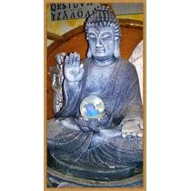 Buda Fuente De Agua... Con Luces Y Esfera..dia De La Madre