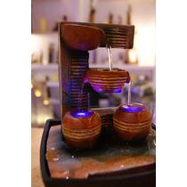 Fuente De Agua Feng Shui Caída En Vasijas Con Led De Colores