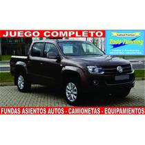 Fundas Asiento Volkswagen Amarok Vw Cuero Ecologico Premium!
