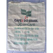 Bolsa De Café Do Brasil Arpillera Yute