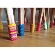 Medias, Fundas Para 6 Sillas Y 1 Mesa Tejidas A Crochet