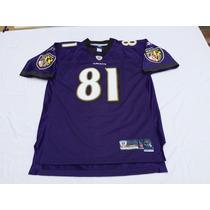 Camiseta Nfl Onfield Rbk Usa,baltimore Ravens #81 T L Nueva