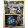Lote De 4 Fotos De Martin Palermo En Boca Juniors