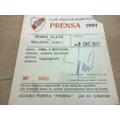 Pase De Prensa - River - Talleres 1991