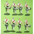Antiguos 8 Jugadores Futbol River Plate Plomo Tipo Mi Equipo