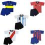 Pijama Club Futbol A Elección Niños Equipos Infantil Remera
