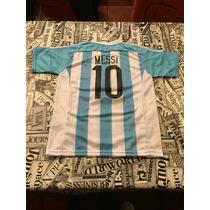 Conjunto Afa Chicos, Messi Estampado, Escudos Bordados