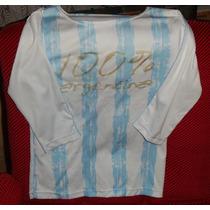 Camiseta De Argentina, Talle S-niña O Jovencita.-impecable